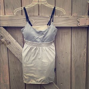 Lululemon striped top gray camisole
